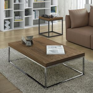 Tema home Table basse rectangulaire Prairie plateau en marbre