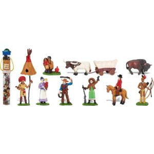 Plastoy Tubo de figurines : Cow-Boys et Indiens