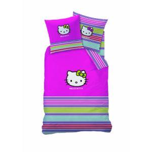 Cti Hello Kitty Sarah Summer - Housse de couette et taie 100% coton (140 x 200 cm)
