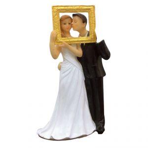 DIGE n27bc83 - Figurine de mariés dans un cadre photo
