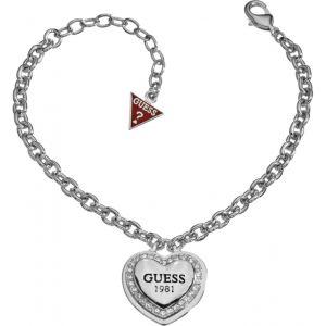 Guess UBB10405 - Bracelet Coeur Argenté et Strass