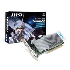 MSI N6200-512D2H/LP - Carte graphique GeForce 6200 128 Mo DDR2 AGP 8x