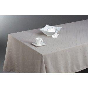 Nappe rectangulaire anti-tache brodée Jacquard (150 x 300 cm)