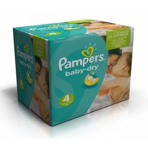 Pampers Baby Dry taille 4 (7-18 kg) - 124 couches