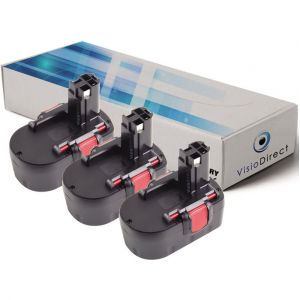 Visiodirect Lot de 3 batteries pour Bosch PSB 14 perceuse à percussion 3000mAh 14.4V