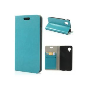 Phonewear PNX5-ETU-TV-015-C - Étui ultra fin finition cuir nervuré bleu LG Nexus 5