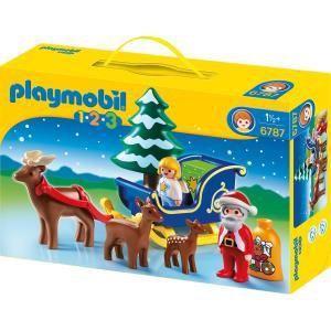 Playmobil 6787 - 1.2.3 : Père Noël avec angelot et traîneau