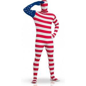 Rubie's Déguisement seconde peau USA drapeau