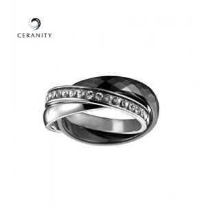 Ceranity 901 042 N - Bague en céramique multi anneaux pour femme