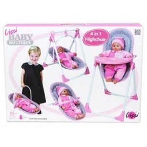 Lissi Dolls 61100 - Chaise haute 4 en 1 pour poupée