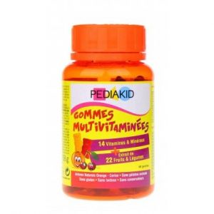 Pediakid Gommes Multivitaminées 60 oursons