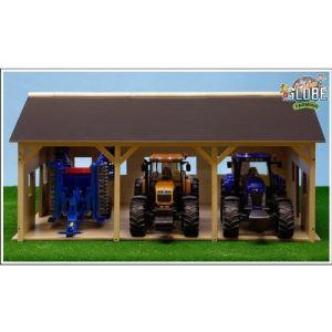 Glow2B Hangar bois pour 3 tracteurs
