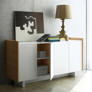Tema home Buffet design Scandinavia avec 4 portes