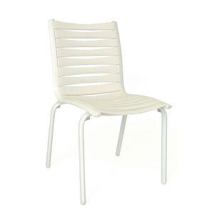 Evolutif Chaise de jardin Floris en aluminium et lattes en polypropylène