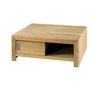 Zago Table basse carrée Cosmos 2 portes en teck
