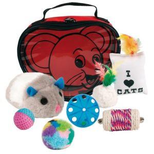 Trixie Set de 7 jouets en sachet nylon pour chat