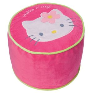 Fun House Pouf Hello Kitty gonflable en tissu