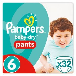 Pampers Baby-Dry Pants taille 6 (15 kg+) - 32 couches-culottes