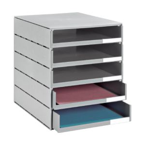 Styro Module de classement Styroval 5 tiroirs ouverts