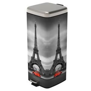 Frandis Poubelle à pédale Paris retro (30 L)