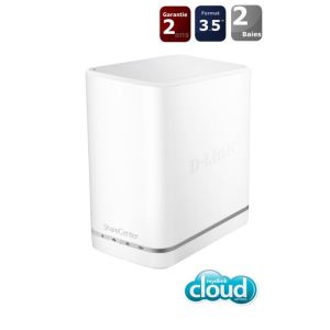 "D-link DNS-327L - Serveur NAS mydlink Cloud ShareCenter+ 2 baies 3.5"" Ethernet"