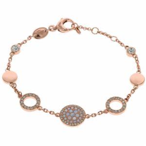 Fossil JF01739791 - Bracelet rosée avec cristaux pour femme