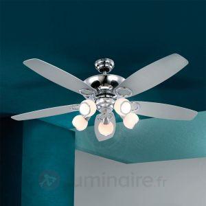 Globo Denim - Ventilateur de plafond avec luminaire 5 pales