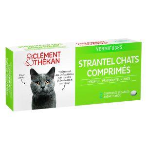Clément Thékan Strantel Chats 2 comprimés