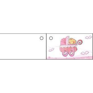 10 etiquettes Landau rose pour Baptême fille