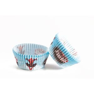 50 caissettes Spiderman pour cup-cakes ou petits gâteaux