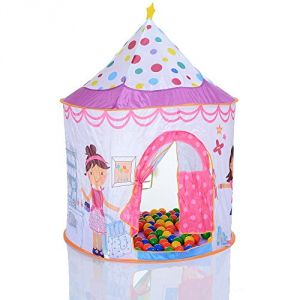 LCP Kids Tente de jeu enfant Pop Up Princess et 100 balles