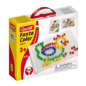 Quercetti Jeu de mosaïques - Fantacolor Basic (100 clous)