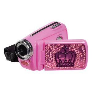 Teknofun Caméscope pour enfant rose avec strass à mémoire Flash