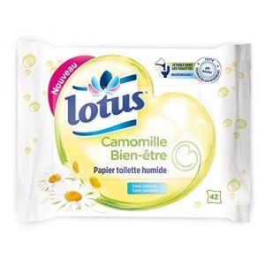 Image de Lotus Camomille Bien-être - Papier toilette humide 42 feuilles (Lot de 6)