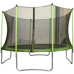 Vivakid Trampoline Yoopi 365 cm avec filet, échelle et couverture