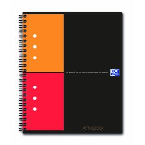 Oxford Cahier bloc-notes Activebook Q 5x5 80 feuilles (A5+)