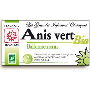 Dayang Infusion bio anis vert - Boîte de 20 sachets
