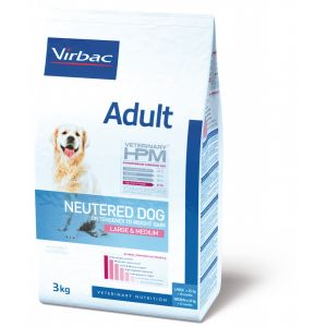 Virbac Veterinary HPM Adult Neutered Large et Medium 12Kg - Croquettes pour chien