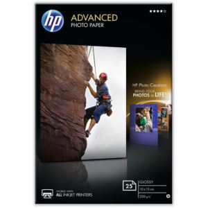 HP 25 feuilles de papier photo Advanced Glossy 250g/m² (A6)