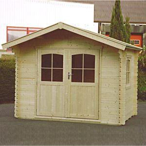 Decor et jardin 76456SZ00 - Abri de jardin en bois massif 34 mm 8,88 m2 (porte double/fenêtre ouvrante luxe)
