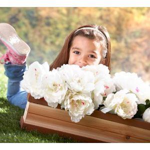 Axi Bac à fleurs en cèdre pour cabane enfant 54 x 19 x 11,50 cm