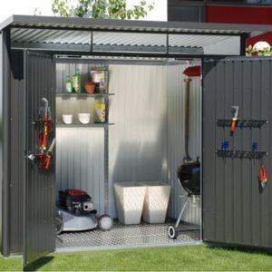 abri de jardin metal gris comparer 89 offres. Black Bedroom Furniture Sets. Home Design Ideas