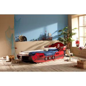 Someo Lit Bateau Pirate Crazy pour enfant (90 x 190/200 cm)