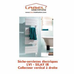 Lvi 3870012 - Sèche-serviettes Silay IR collecteur vertical à droite 750 Watts