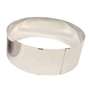 Lares Cercle à tarte extensible en inox de 23 à 30 cm