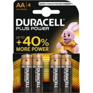 Duracell Plus Powe pile 1,5v Alcaline LR06 - Blister de 4