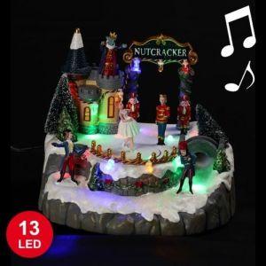 Château animé musical 13 LED (17 x 20 cm)