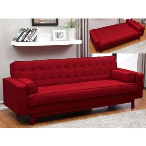 Canape convertible clic clac rouge comparer 112 offres for Canape clic clac rouge