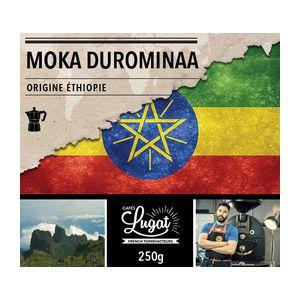 Cafés Lugat Café moulu pour cafetière italienne : Ethiopie - Moka Durominaa - 250g