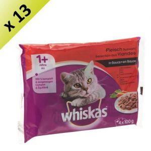 Whiskas Viandes en sauce - Lot de 13 (4 sachets de 100g)